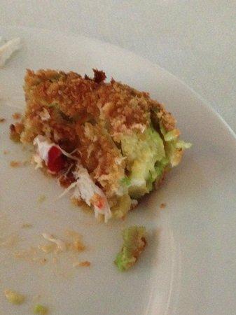 Coles 735 Main : Last few bites of Panko fried avocado