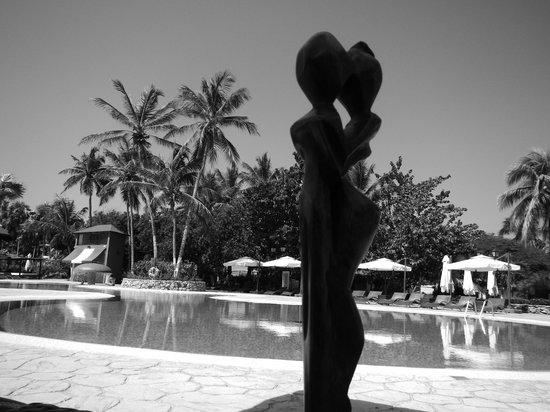 Hesperia Playa El Agua : Estatuilla esculpida a mano que compré en la zona como simbolo de nuestra estadía en hotel Hespe