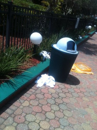 Maingate Lakeside Resort: Dirty towels left around pool