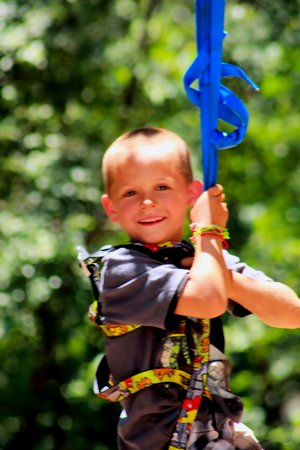 Cherokee Rock Village : A young rock climber!