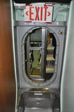 The Submarine Force Museum: A doorway inside the Nautilus.