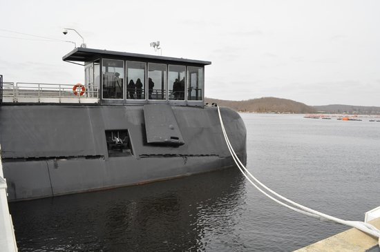 The Submarine Force Museum: The glass enclosure where you enter the stairs down to Nautilus.