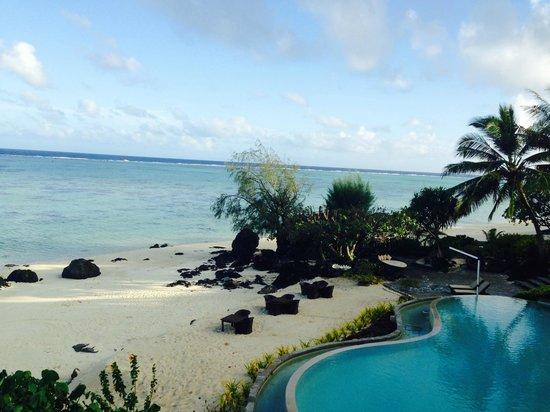 Pacific Resort Aitutaki : View from upstairs Restaurant