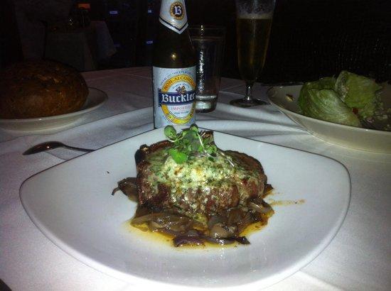 Morton's the Steakhouse: Bone in filet.  Mmmmm!!