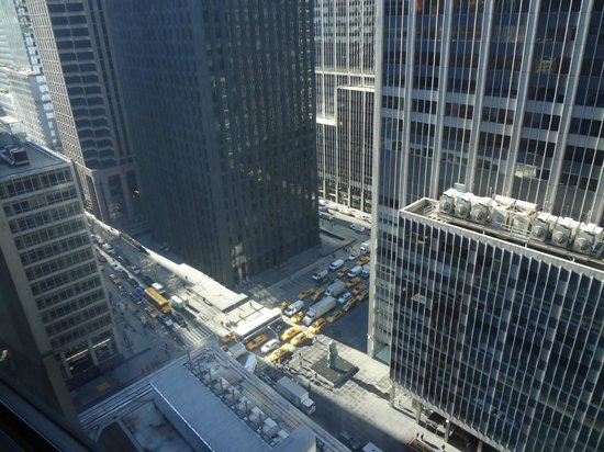 New York Hilton Midtown: View looking down from the 22nd floor