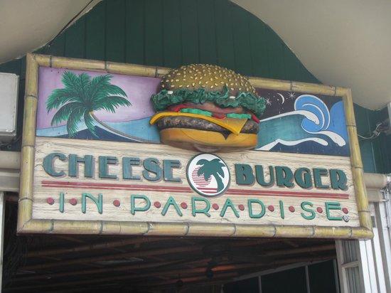 Cheeseburger In Paradise : Restaurant Sign