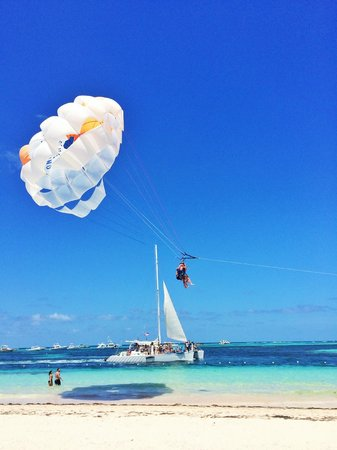 IFA Villas Bavaro Resort & Spa: On our beach! Book parasailing to the left past Melia (We got it down to $25 each for 4 people)
