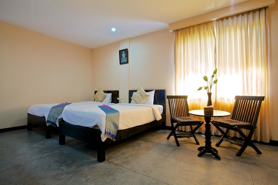 Lin Ratanak Angkor Hotel: Deluxe Twin Room Accommodation are the great choice of friend and family trip.