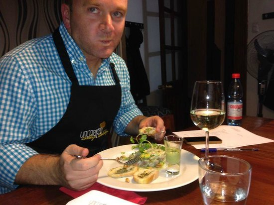 Uncorked Cooking WorkShop : Enjoying the food