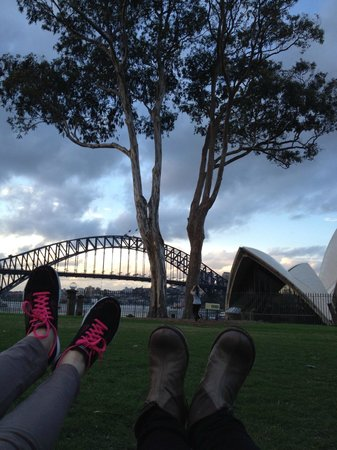 Sydney Opera House: View from Botanical Garden, good to recharge after wholeday walking