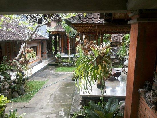 Mawar Homestay : Hotel garden mixed with an art gallery