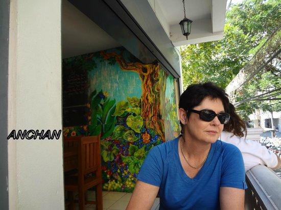 Anchan Vegetarian Restaurant: On the little balcony