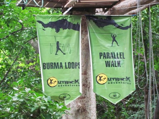 Jungle Lodges - Bheemeshwari Nature & Adventure Camp: Burma Loop and Parallel Walk Sign