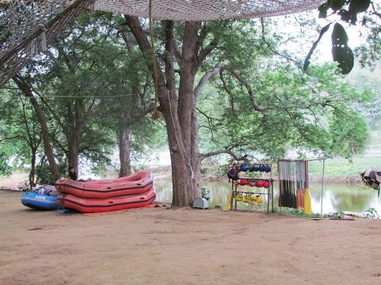 Jungle Lodges - Bheemeshwari Nature & Adventure Camp: All the gear for the Rafting