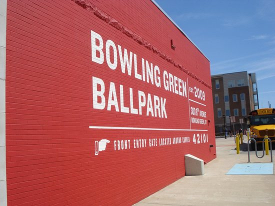 Bowling Green Ballpark: Sign on wall