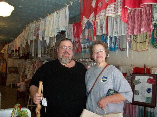 The Apron Museum: me and my wife at the museum