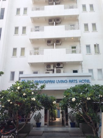The Frangipani Living Arts Hotel & Spa: From the front