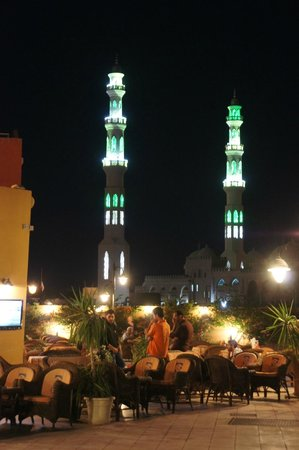 New Marina : The Mosque Towers at the End of the Marina