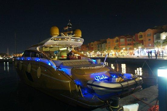New Marina : One of the smaller boats mooring