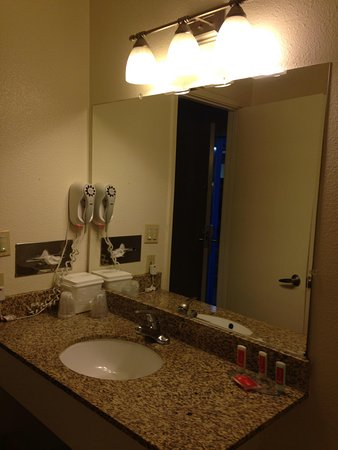 Econo Lodge Bay Breeze: Wash basin and hairdryer
