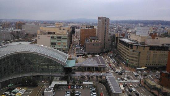ANA Crowne Plaza Hotel Kanazawa: Вид из номера