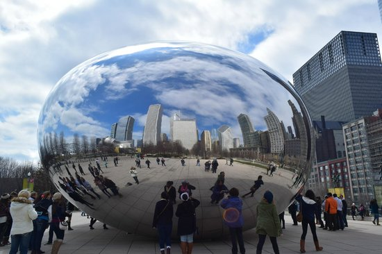 The Silversmith Hotel: Awesome reflection in 'the Bean' at Millennium Park,Chicago