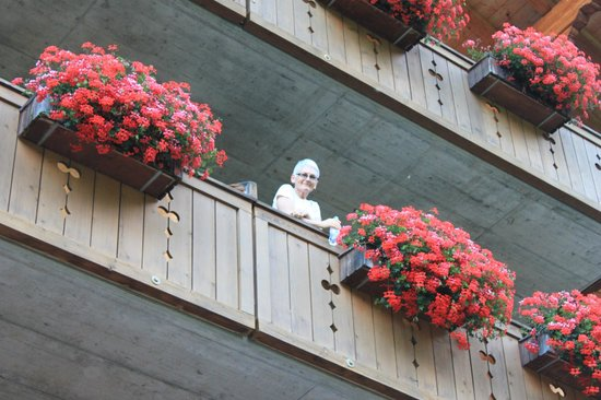 Hotel Bodmi : Beautiful geraniums