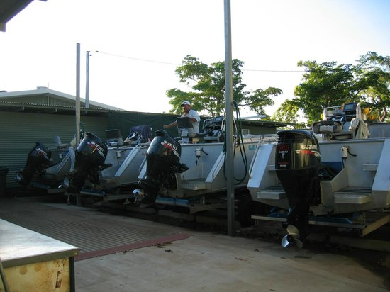 Tiwi Islands, Australia: Purpose built 6.4 mtr boats and 150hp Suzuki motors.