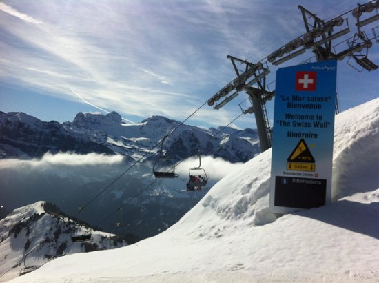British Alpine Ski School: Swiss Wall