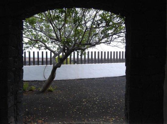Hotel The Volcan : Vue de la chambre et de la terrasse