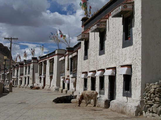 Gyangze Old Street : Houses in old quarter, Gyantse