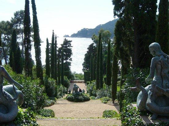 Jardin Santa Clotilde : La escalinata central