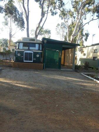 Kojonup Caravan Park: Groovey cabin to stay in