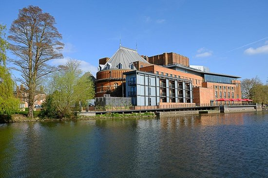 The Royal Shakespeare Theatre: The Theatre from the opposite bank of the Avon