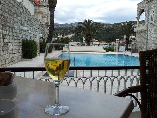 Hotel Lapad : Utsikt fra cafe på hotell