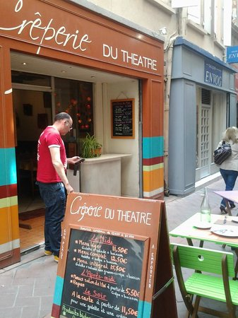 Crêperie du Théâtre : Vista entrada y el putoamo