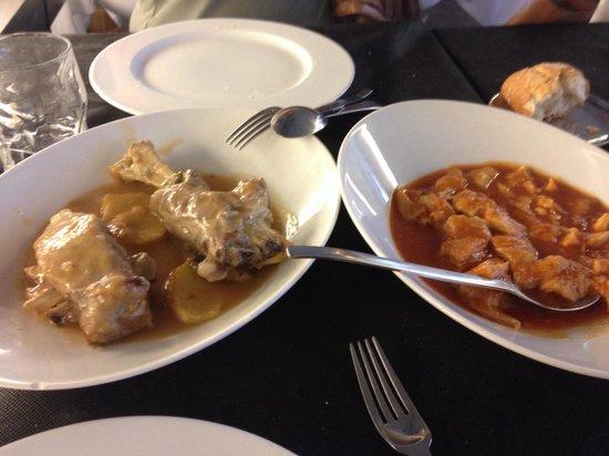 Restaurante Casa Marisa: Cordero en jarrete y callos