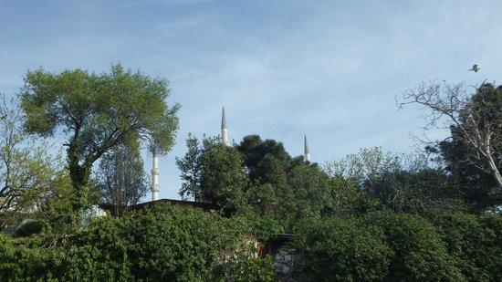 Hotel Sphendon: la mosquée bleue, vue de la terrasse
