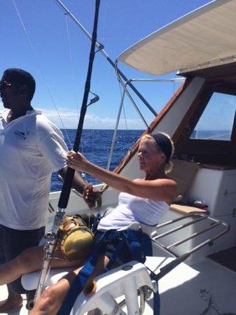 Hooker Deep Sea Fishing: catching my marlin