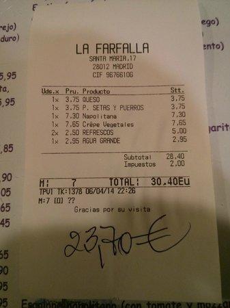 La Farfalla : Cuenta con 30% de descuento en platos