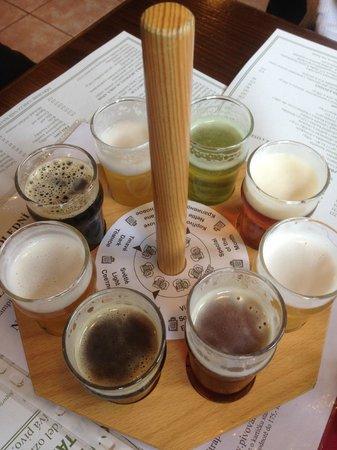Pivovarsky dum : Ölprovning på gång