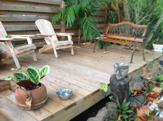 Almost Paradise: deck area