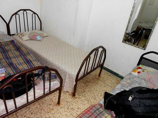 Jaffa Gate Hostel: two single beds crammed together