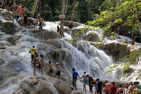 Dunn's River Falls and Park: catena umana