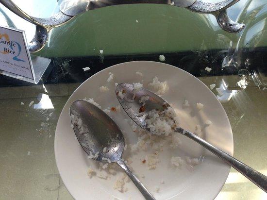 Summit Ridge Tagaytay: The utensils for the rice! My gosh!