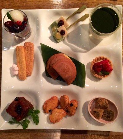 Iyemon Salon Kyoto Cafe Lounge: Degustazione di wagashi