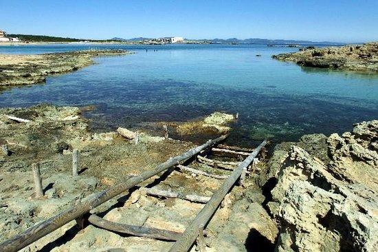 Playa es Pujols: Il mare e gli scogli