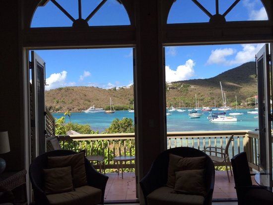 Gallows Point Resort: Beautiful mountain, ocean, and harbor views from room 11d