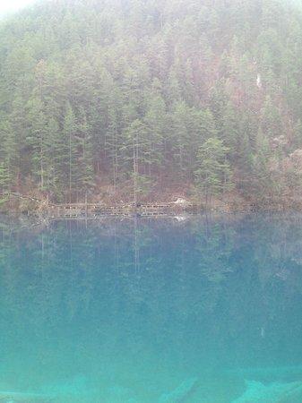 Jiuzhaigou Natural Reserve: One of the multicolor lakes