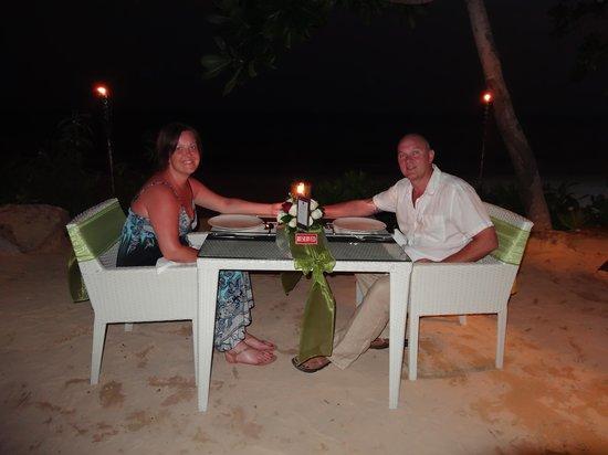 Beyond Resort Krabi : Dinner on the beach.